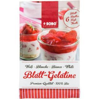 Bio-Blatt-Gelatine weiß